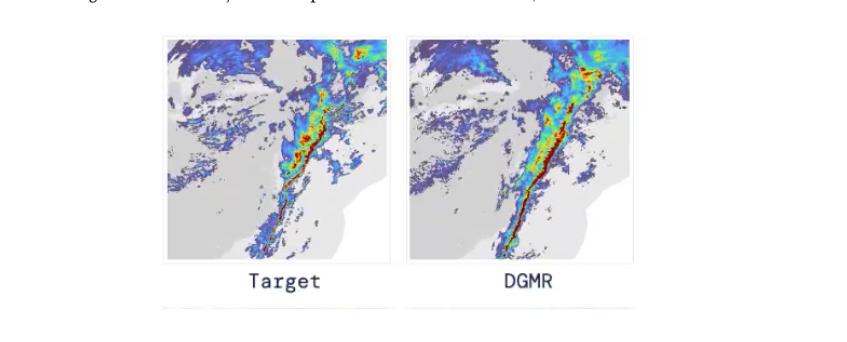 Imagem que mostra dados de radares metereológicos